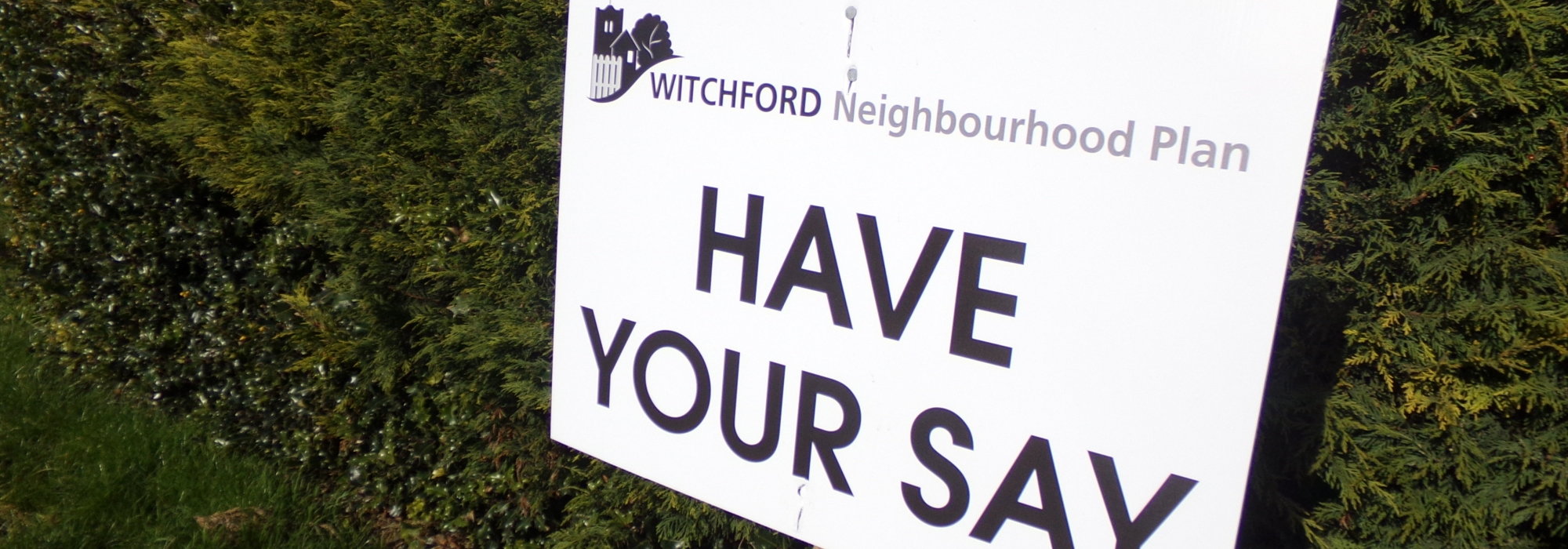Have your say sign